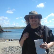A bearded badger obsessed LJer at Porth Meudy