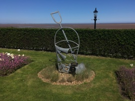Sculpture of a bucket and spade